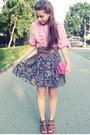 Bubble-gum-purse-navy-skirt-bubble-gum-blouse