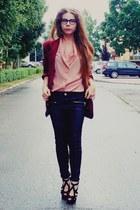 brick red blazer