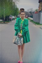 green coat