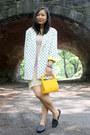 Off-white-urban-outfitters-dress-white-polka-dot-vintage-blazer