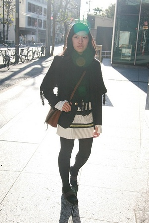 blazer - Paul Smith sweater - scarf - purse - Muji shoes