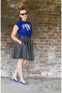 Dark-gray-denim-micimici-skirt-blue-cotton-t-shirt