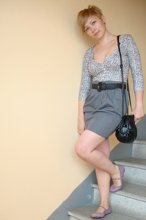 Newlook top - Topshop skirt - gift from friend belt - H&amp;M purse - Topshop shoes
