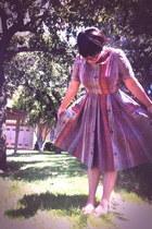 vintage dress - Forever 21 glasses