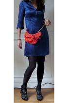 les petites dress - seven Bruxelles purse - Zara shoes