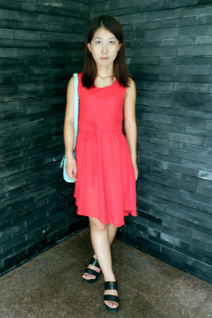 black westlink shoes - summer unknown brand dress - Mbaobao bag