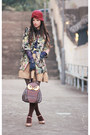 Gold-kari-ang-shoes-bronze-snidel-dress-green-lagunamoon-coat-dark-brown-a
