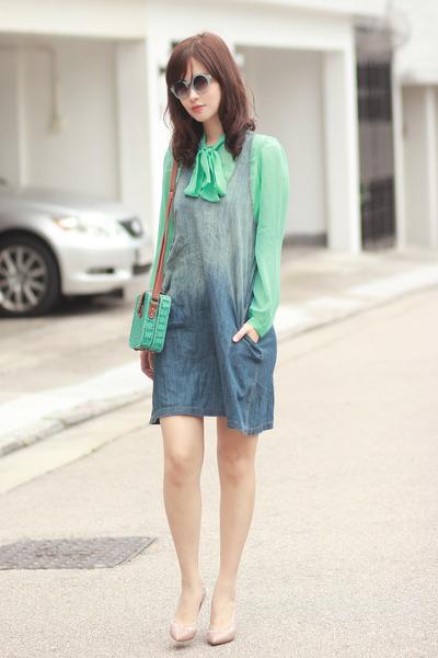 light blue Chicwish glasses - blue ianywear dress