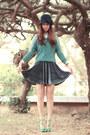 Teal-ianywear-cardigan-turquoise-blue-awwdore-skirt