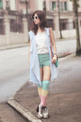 Neutral-choies-boots-periwinkle-romwe-jacket-turquoise-blue-chicwish-shorts