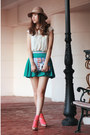 Ivory-chicwish-vest-teal-chicwish-skirt