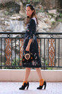 Navy-romwe-vintage-dress-black-miu-miu-heels