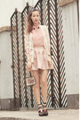 Light-pink-chicwish-shirt-ivory-chicwish-cardigan-pink-style-societal-skirt