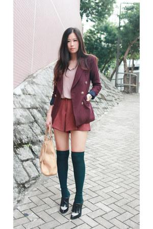 crimson boutique blazer - black Alexander Wang shoes - beige Fendi bag