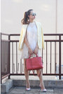 Ivory-free-people-dress-light-yellow-chictopia-shop-blazer-salmon-coach-bag