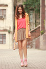 Light-orange-yesstyle-cardigan-carrot-orange-romwe-vest-gold-kari-ang-heels