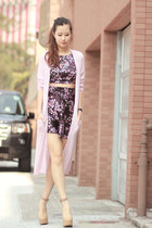 amethyst vanilla mood dress - light pink Choies cardigan