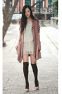 Pink-moolstory-company-coat-beige-christian-louboutin-shoes