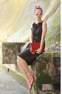 red Valentino bag - black RED valentino dress
