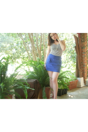 forever 21 skirt - TJ Maxx top - Nine West shoes