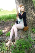 Stradivarius scarf - beige Pimkie boots - tawny Divided bag