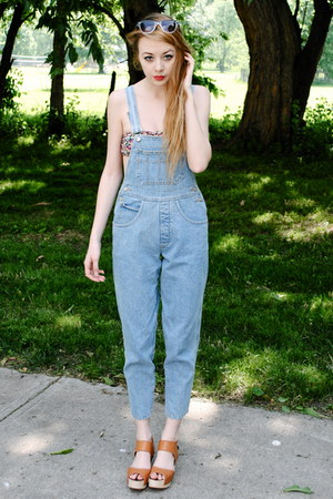 denim overalls romper - bandeau intimate