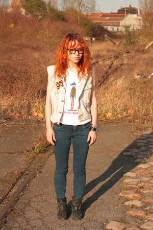 Big star blazer - Topshop t-shirt - Topshop jeans - Topshop shoes - rayban glass