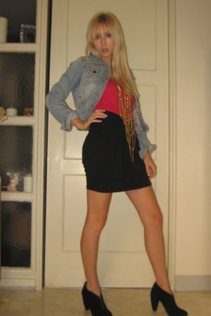abercrombie and fitch jacket - LnA top - Urban Outfitters skirt - deena and ozzy