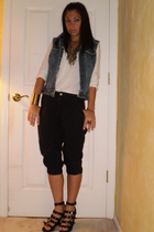 forever 21 vest - forever 21 shoes - forever 21 bracelet - forever 21 necklace