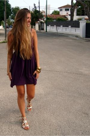 dress - bracelet - Zara shoes