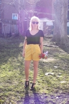 vintage ERA shorts - Urban Outfitters shirt - Aldo shoes - thrifted sunglasses