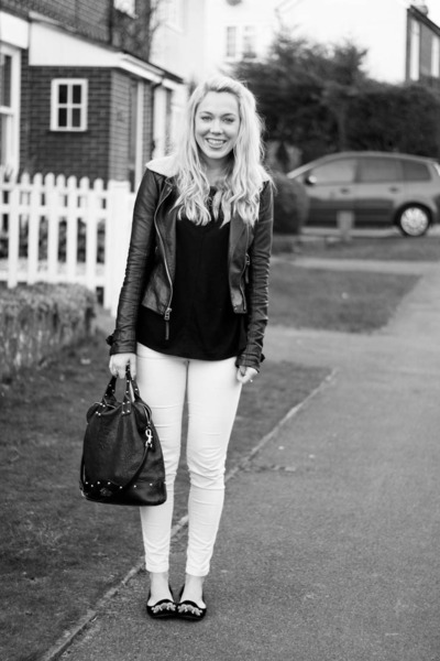 Zara jeans - Topshop jacket - Mulberry bag