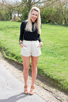 Daniel Footwear shoes - lace Sugarhill Bputique shorts - black Zara top