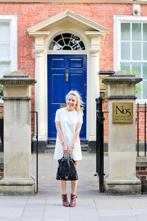 white leather Topshop dress