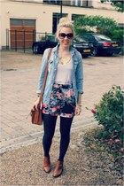 acton tosphop boots - denim Topshop shirt - vintage bag
