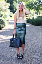 metallic Zara skirt