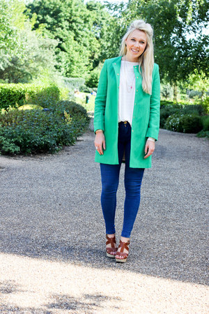 green Zara coat