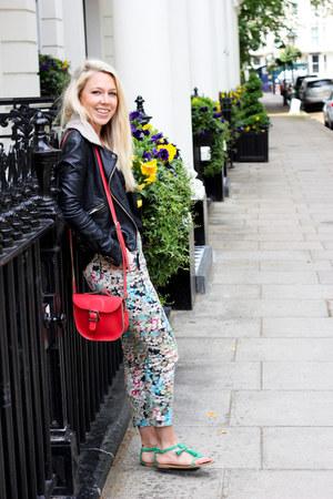 floral prints Topshop pants