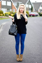 skinny Zara jeans - bag Mulberry bag - Zara top