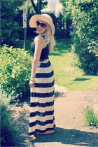 striped Primark skirt - straw Primark hat