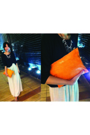 PB bag - Topshop top - rotsaniyom skirt