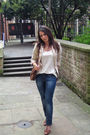 Beige-zara-blazer-brown-vintage-accessories-beige-river-island-vest