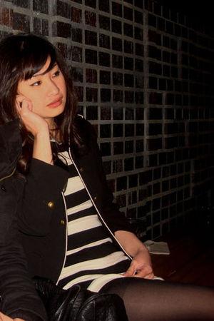 tights - tory burch shoes - mirrordash dress - Zara jacket