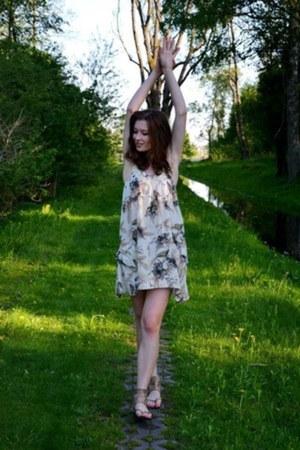 River Island dress - new look sandals
