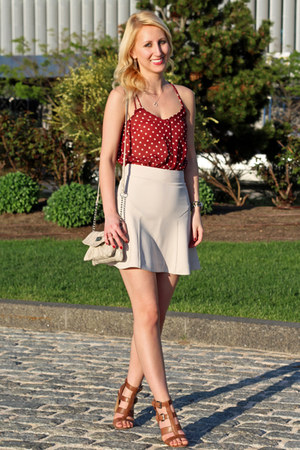 beige flared Express skirt - beige Nine West bag