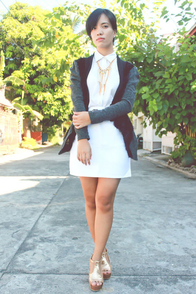 Simones Closet jacket - Sing Styles shoes - Custom-made skirt - Levis blouse