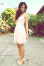 Light-pink-landmark-dress-navy-vintage-jacket-eggshell-chick-flick-heels
