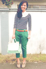 Black-forever-21-dress-green-seventeen-pants-white-levis-top
