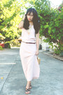 Camel-southshore-bag-black-parisian-sandals-peach-vintage-skirt