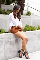 Urban Outfitters shorts - Zara blouse - H&M sandals